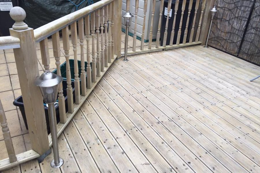 Commercial Decking Cleaning in Dawlish, Devon