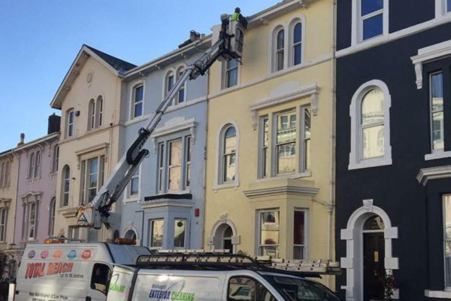 Commercial Gutter Cleaning in Dawlish, Devon