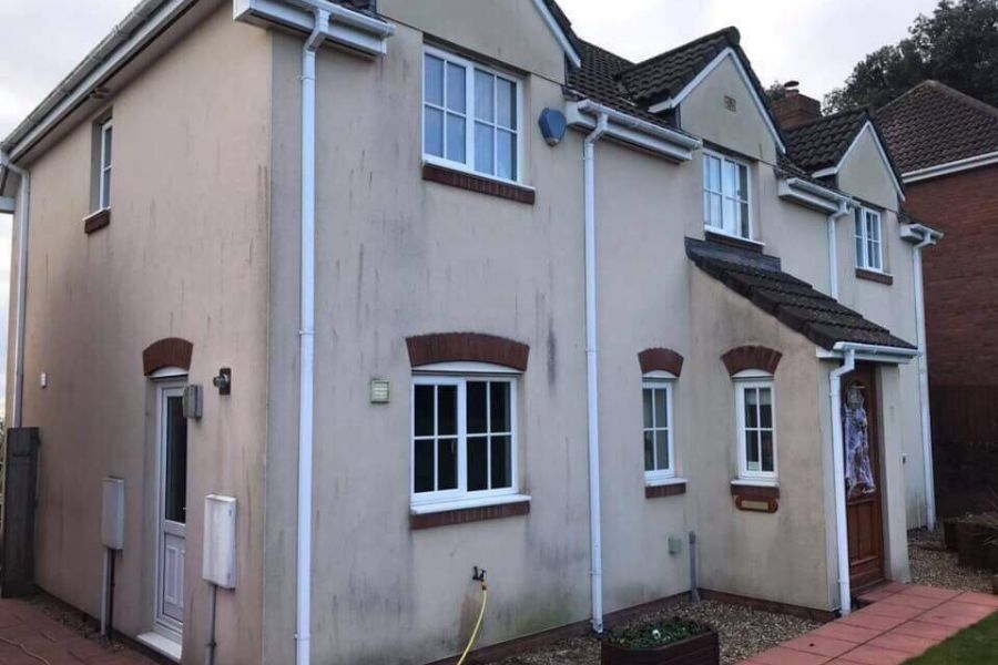 Residential Softwashing in Dawlish, Devon
